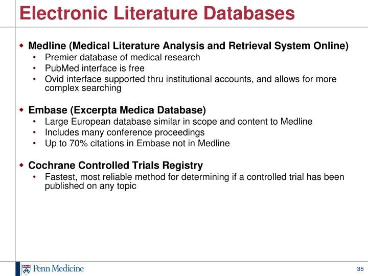 Electronic Literature Databases