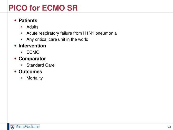 PICO for ECMO SR