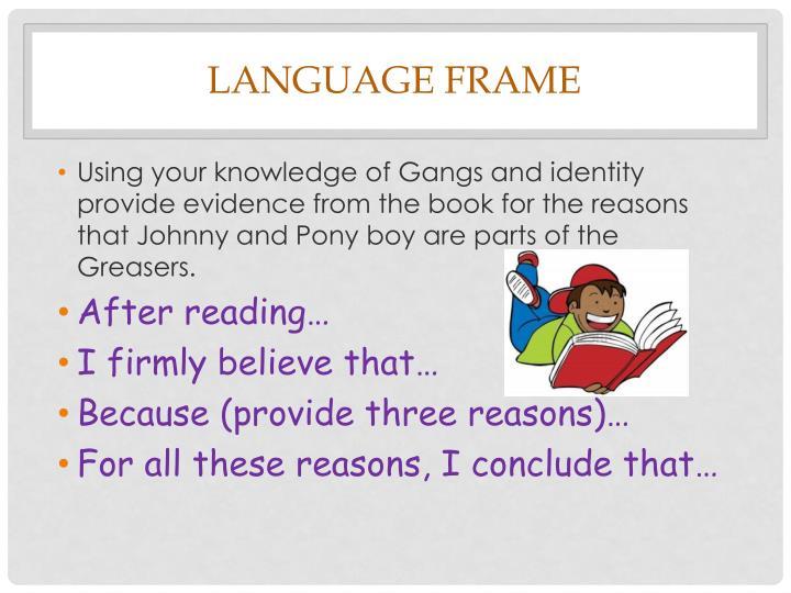 Language Frame