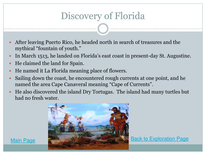 Discovery of Florida