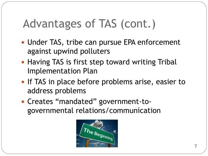Advantages of TAS
