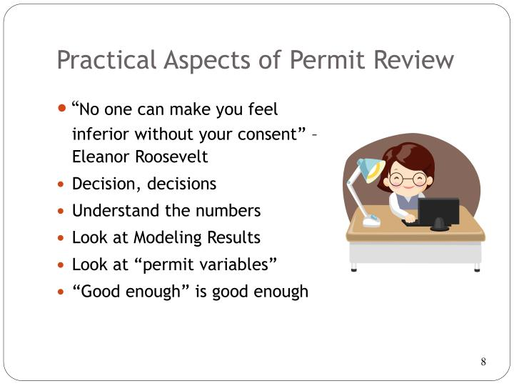 Practical Aspects of Permit Review