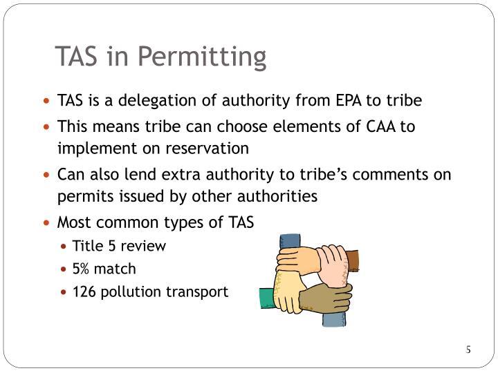 TAS in Permitting