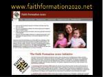 www faithformation2020 net