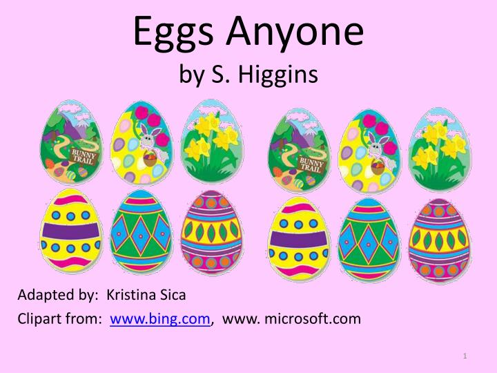 eggs anyone by s higgins n.