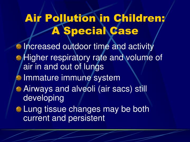 Air Pollution in Children: