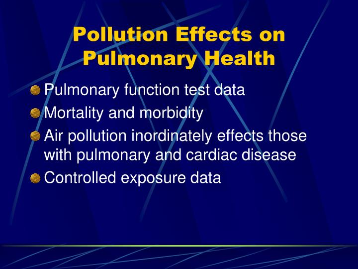 Pollution Effects on Pulmonary Health