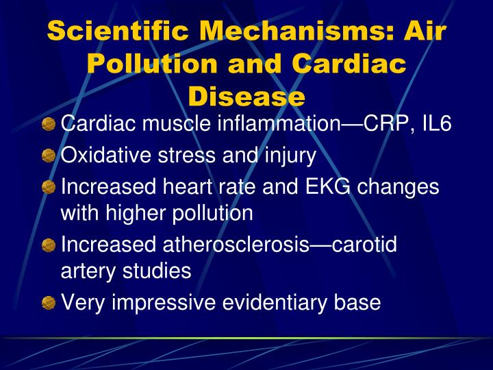 Scientific Mechanisms: Air Pollution and Cardiac Disease