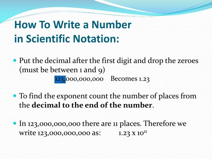 How To Write a Number