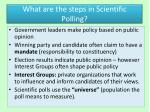 what are the steps in scientific polling