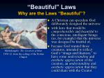 beautiful laws why are the laws beautiful