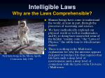 intelligible laws why are the laws comprehensible