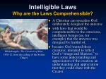 intelligible laws why are the laws comprehensible2