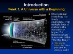 introduction week 1 a universe with a beginning