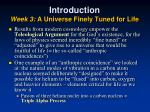 introduction week 3 a universe finely tuned for life1