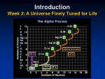 introduction week 3 a universe finely tuned for life2