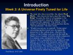 introduction week 3 a universe finely tuned for life3
