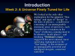 introduction week 3 a universe finely tuned for life4