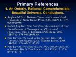 primary references 4 an orderly rational comprehensible beautiful universe conclusions
