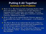 putting it all together summary of the problems