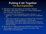 putting it all together the best explanation2
