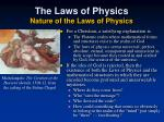 the laws of physics nature of the laws of physics1