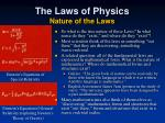 the laws of physics nature of the laws
