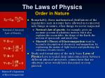 the laws of physics order in nature1