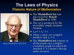 the laws of physics platonic nature of mathematics2