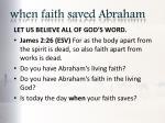 when faith saved abraham5