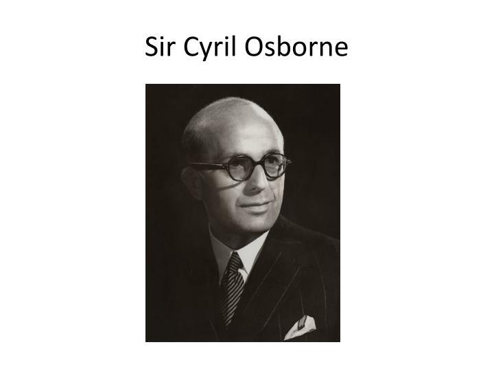 Sir cyril osborne