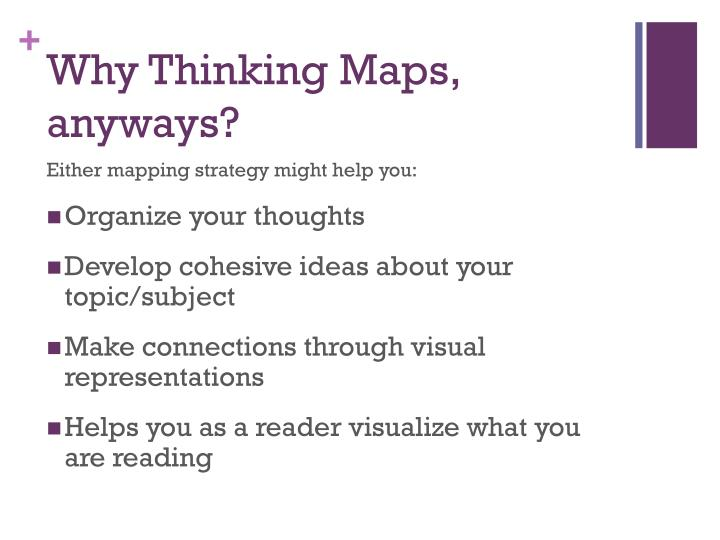 Why Thinking Maps, anyways?