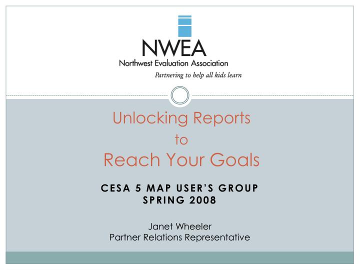 unlocking reports to reach your goals n.