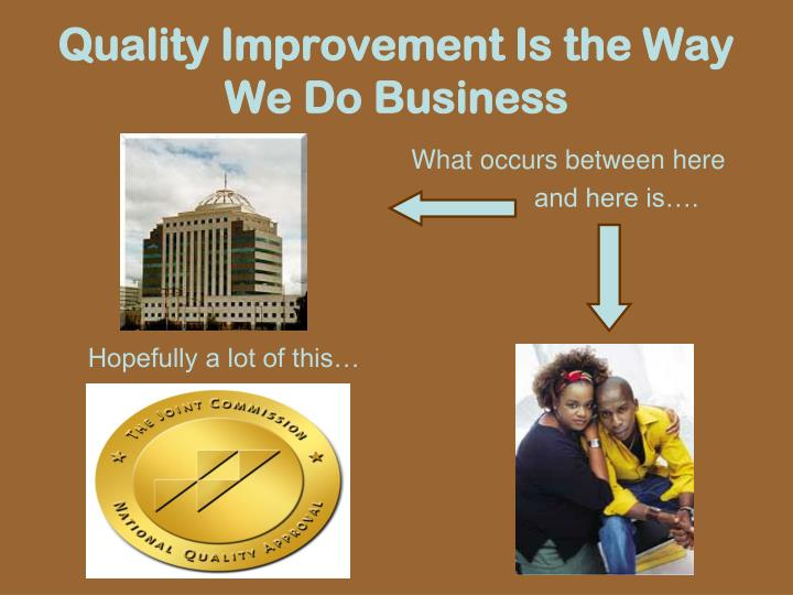 Quality Improvement Is the Way We Do Business