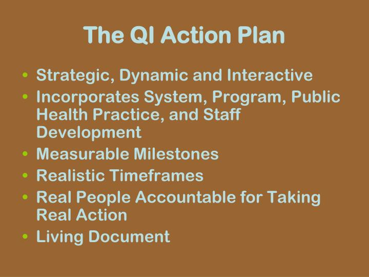 The QI Action Plan