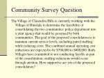 community survey question