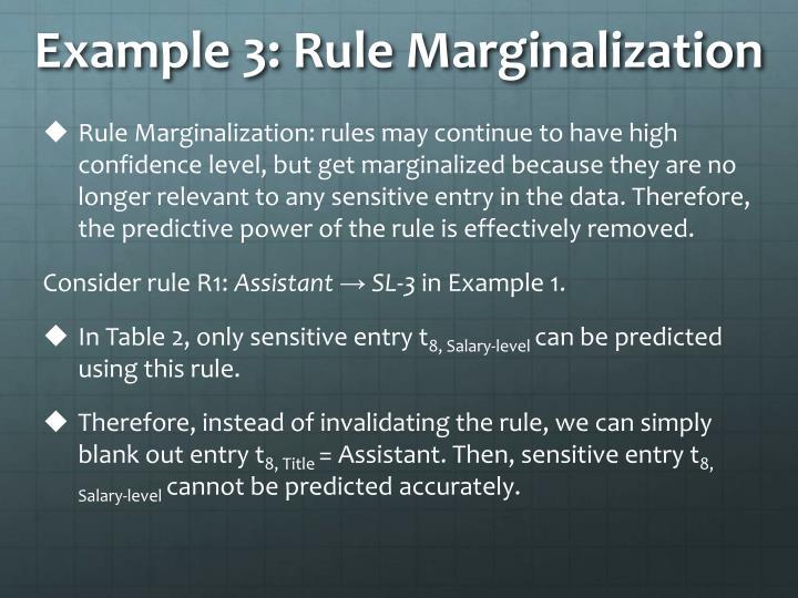 Example 3: Rule Marginalization