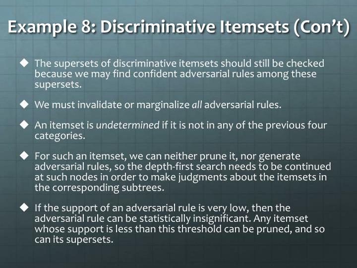 Example 8: Discriminative