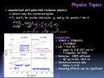 physics topics