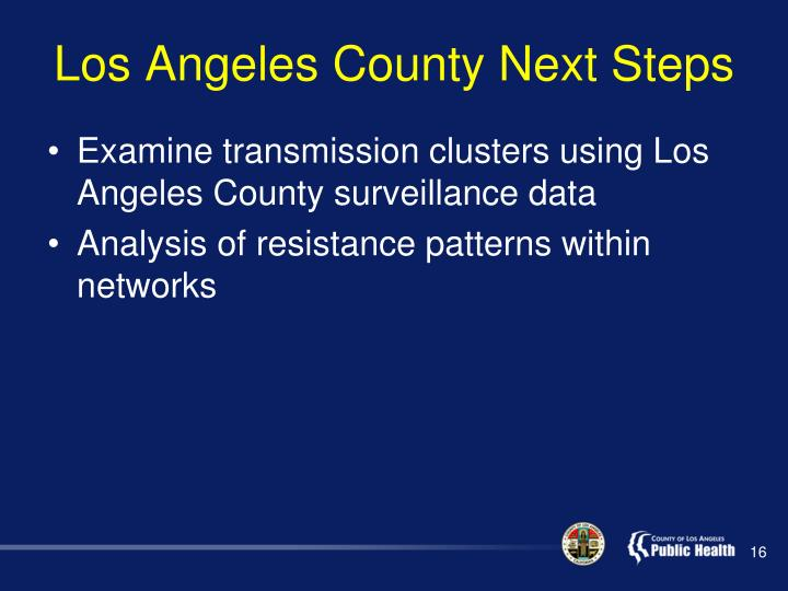 Los Angeles County Next Steps