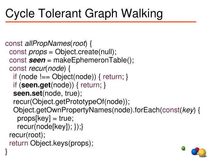 Cycle Tolerant Graph Walking