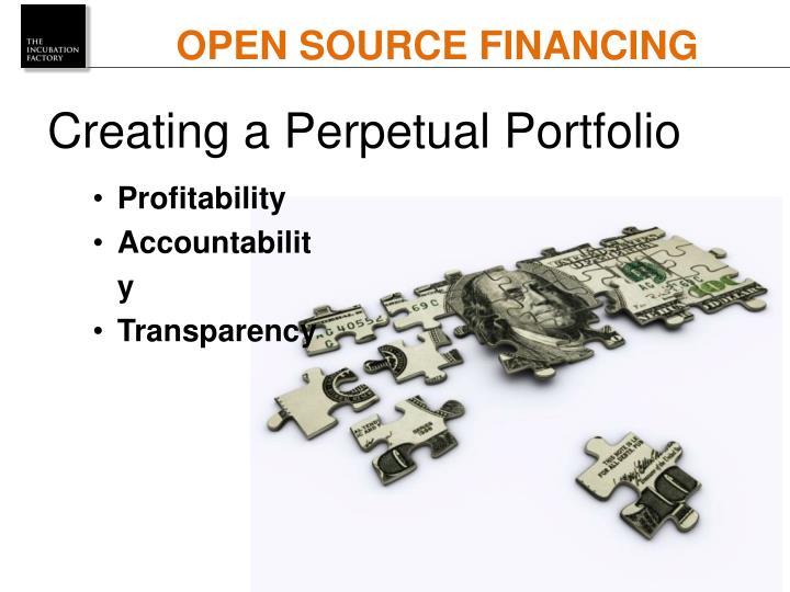 OPEN SOURCE FINANCING
