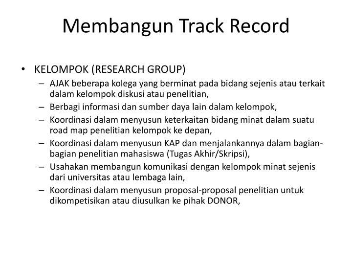 Membangun Track Record