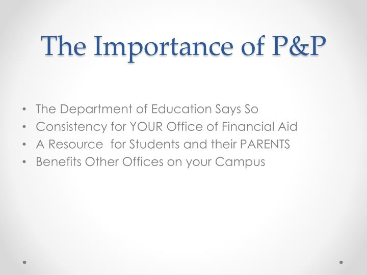 The importance of p p