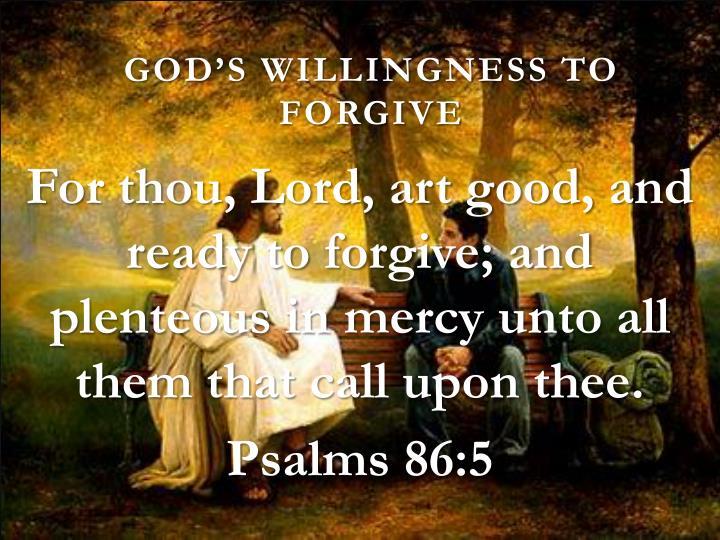 God's willingness to