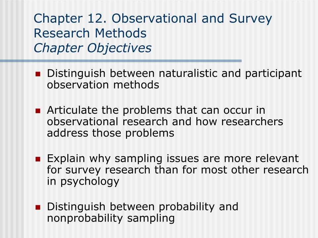naturalistic observation research method