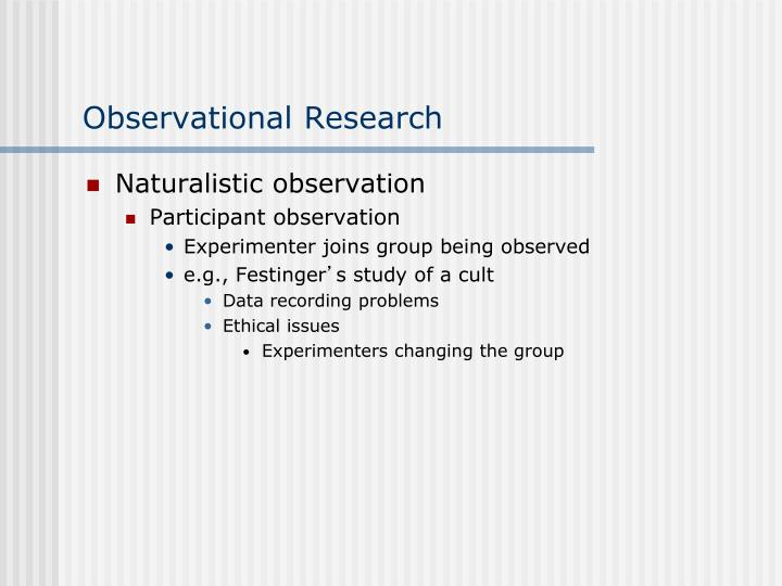 ethical issues in participant observation
