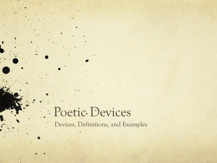 poetic devices n.