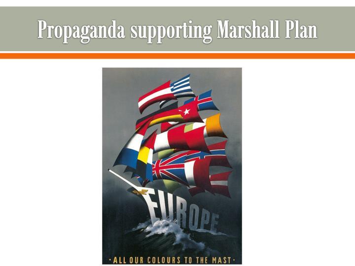 Propaganda supporting Marshall Plan