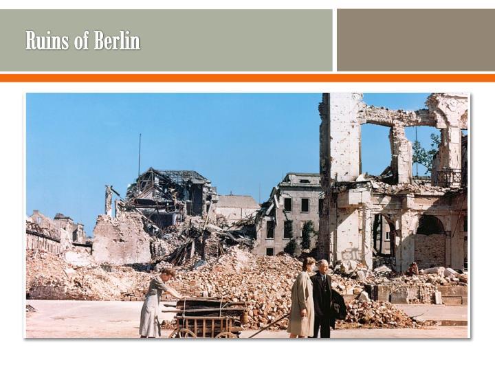 Ruins of berlin